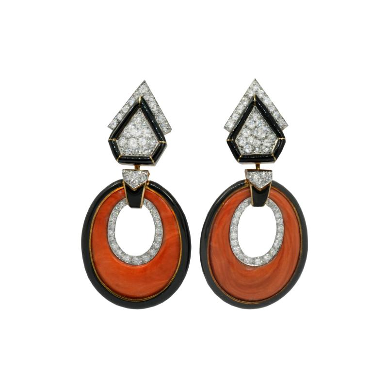 David Webb David Webb drop earrings