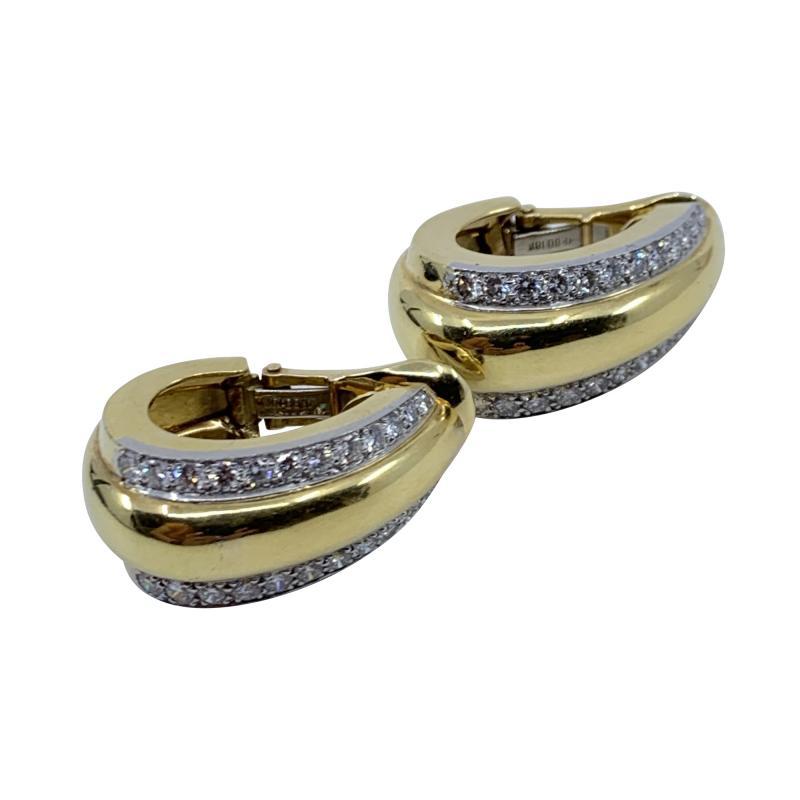 David Webb David Webb gold Diamond Earrings