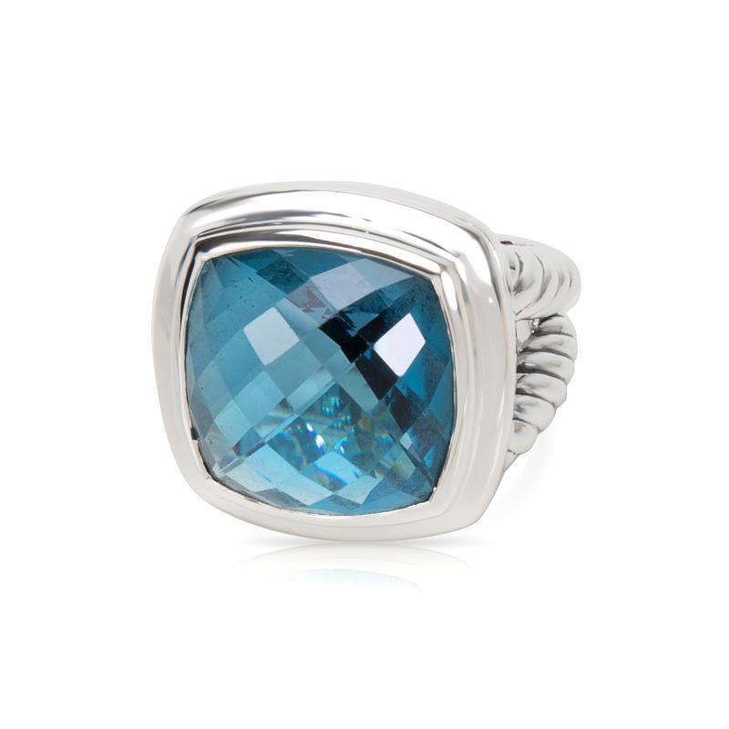David Yurman David Yurman Blue Topaz Albion Ring in Sterling Silver