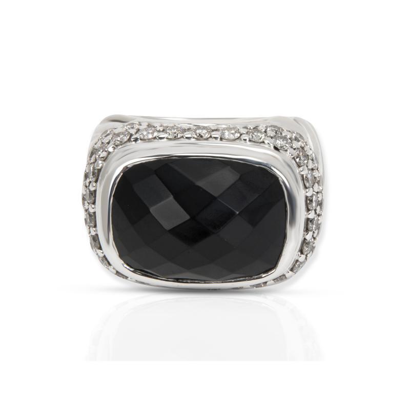 David Yurman David Yurman Diamond Fashion Ring in Sterling Silver 1 35 CTW