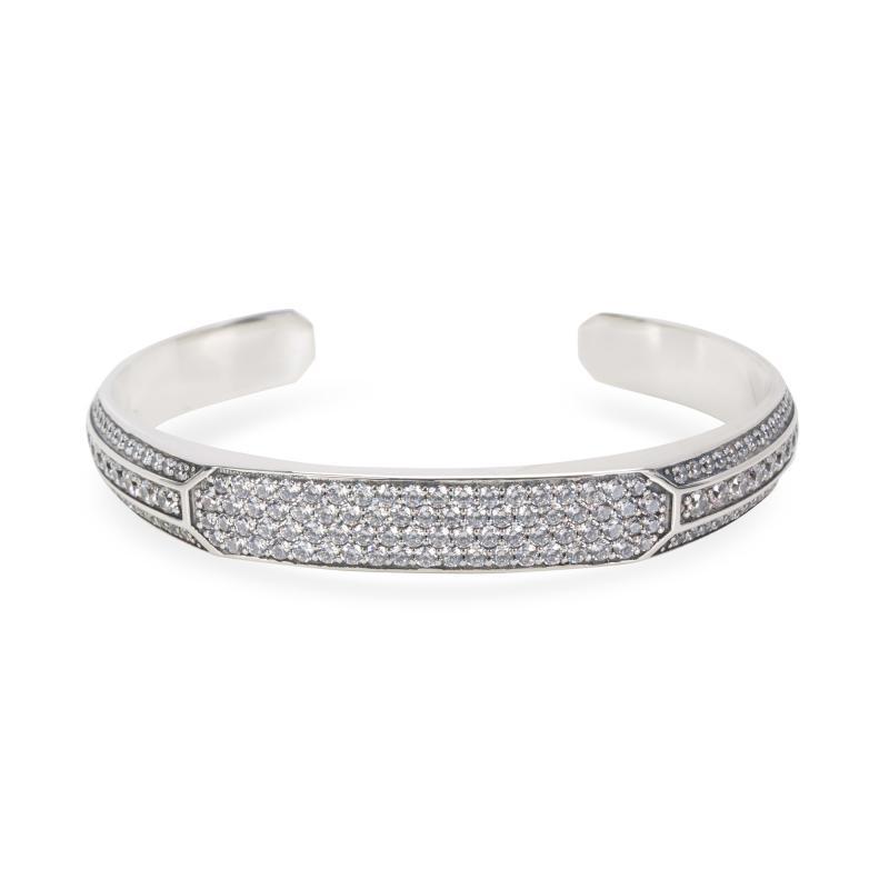 David Yurman David Yurman Heirloom Grey Sapphire Mens Cuff in Sterling Silver
