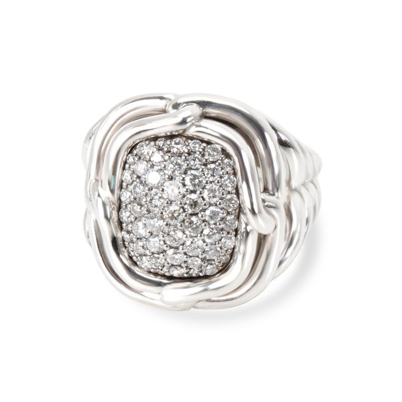 David Yurman David Yurman Labyrinth Diamond Ring in Sterling Silver 1 CTW