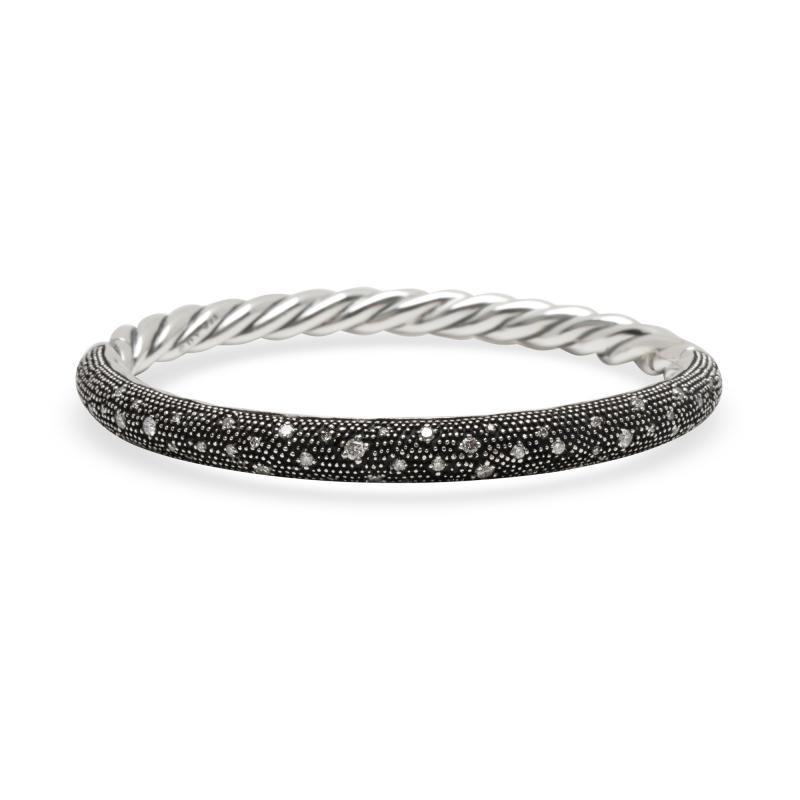 David Yurman David Yurman Midnight Melange Diamond in Sterling Silver 0 54 CTW