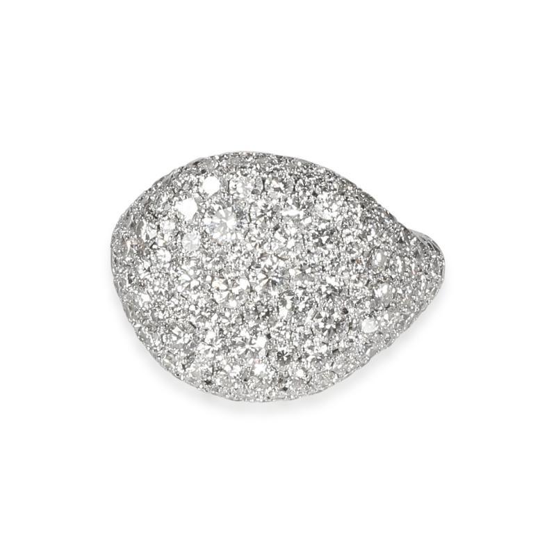 David Yurman David Yurman Pave Diamond Pinky Ring in 18K White Gold 2 65 CTW