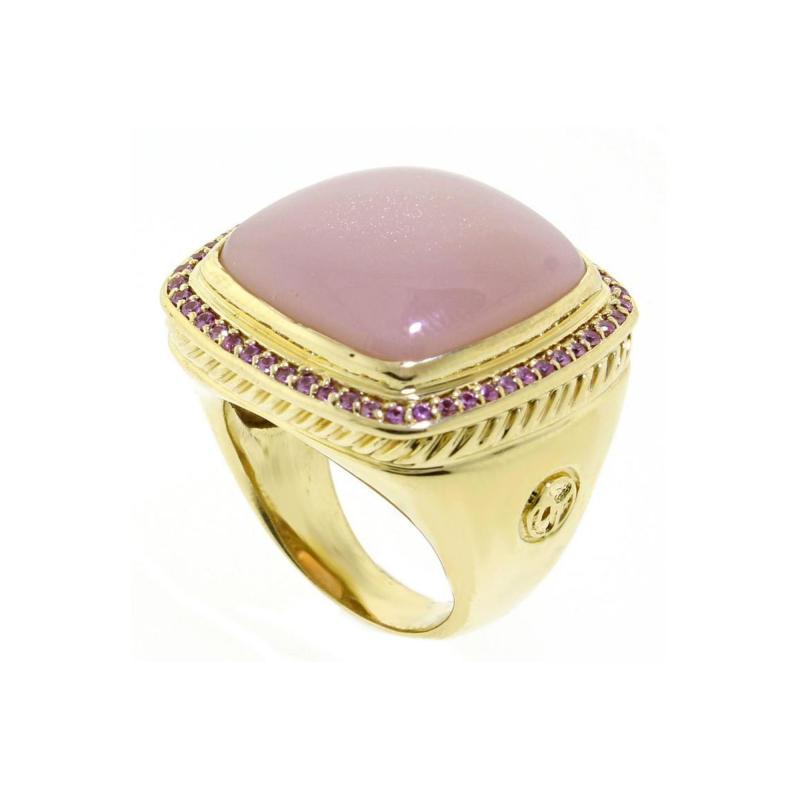 David Yurman David Yurman Pink Sapphire and Moonstone Ring