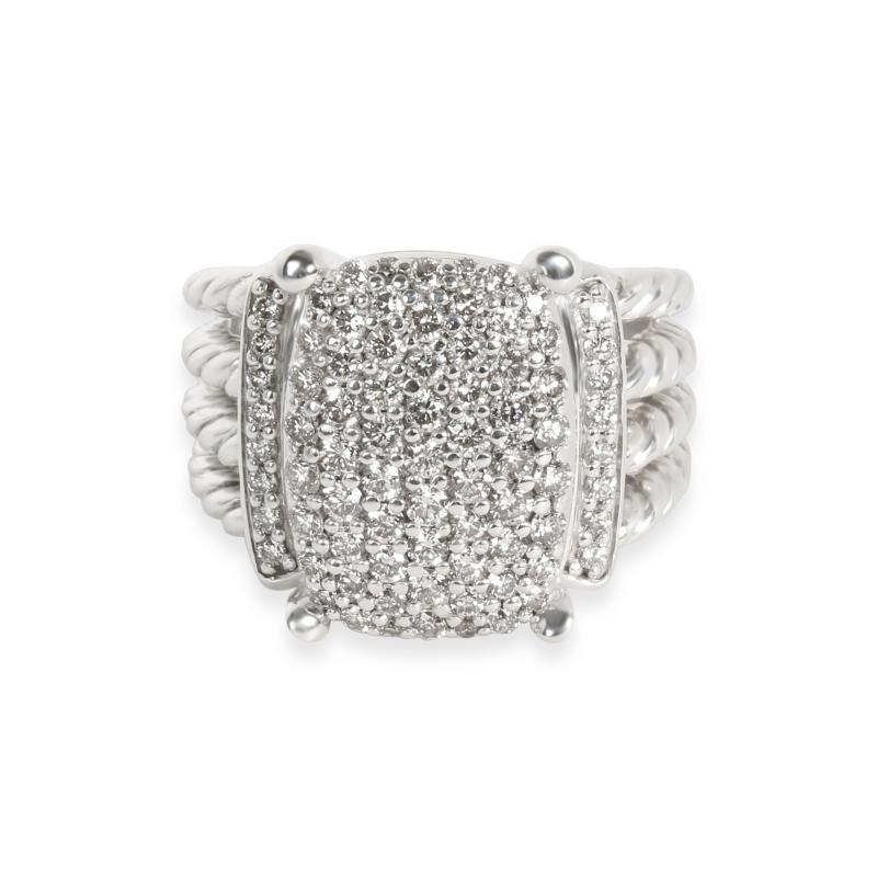 David Yurman David Yurman Wheaton Collection Diamond Ring in Sterling Silver 1 12 CTW