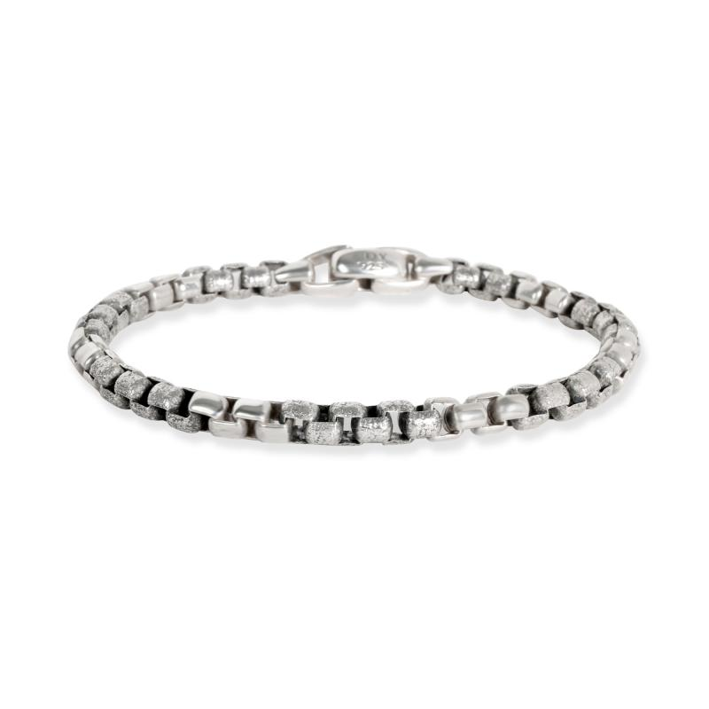 David Yurman Hammered Links Bracelet in Sterling Silver