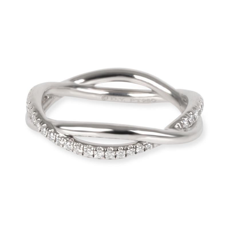 David Yurman Lanai Collection Diamond Wedding Band in Platinum 0 19 CTW