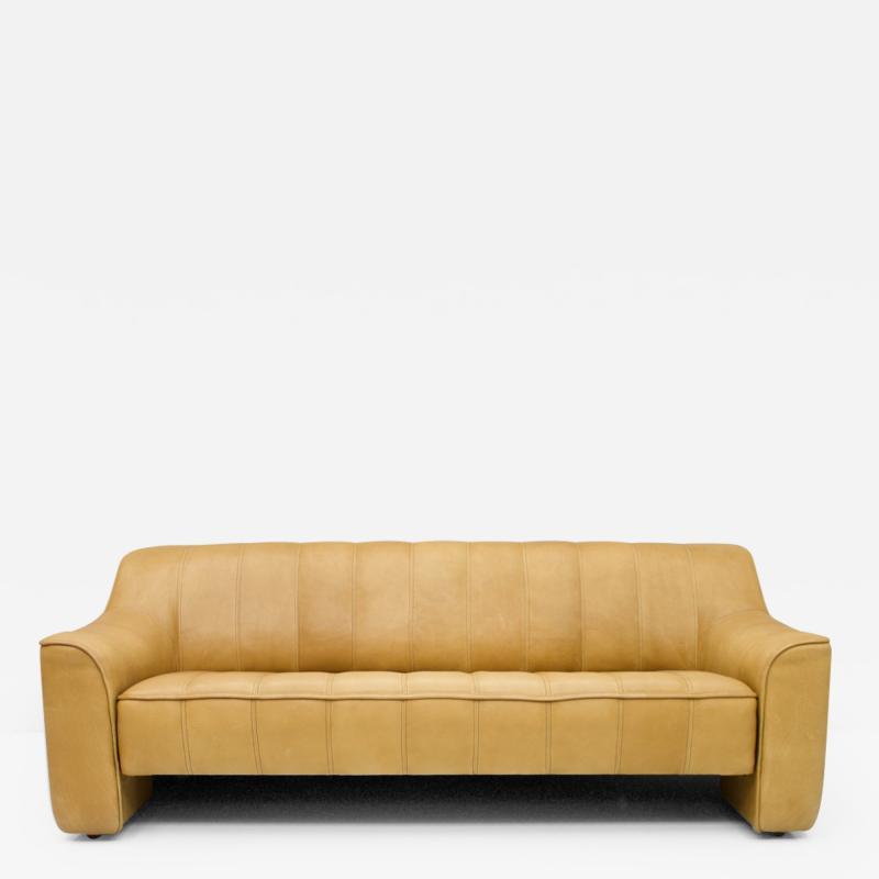 De Sede DS 44 3 Seat Sofa in Cognac Brown Neck Leather Switzerland 1970s