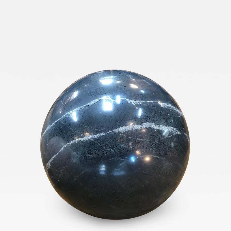 Decorative Dark Grey Marble Sphere Italy