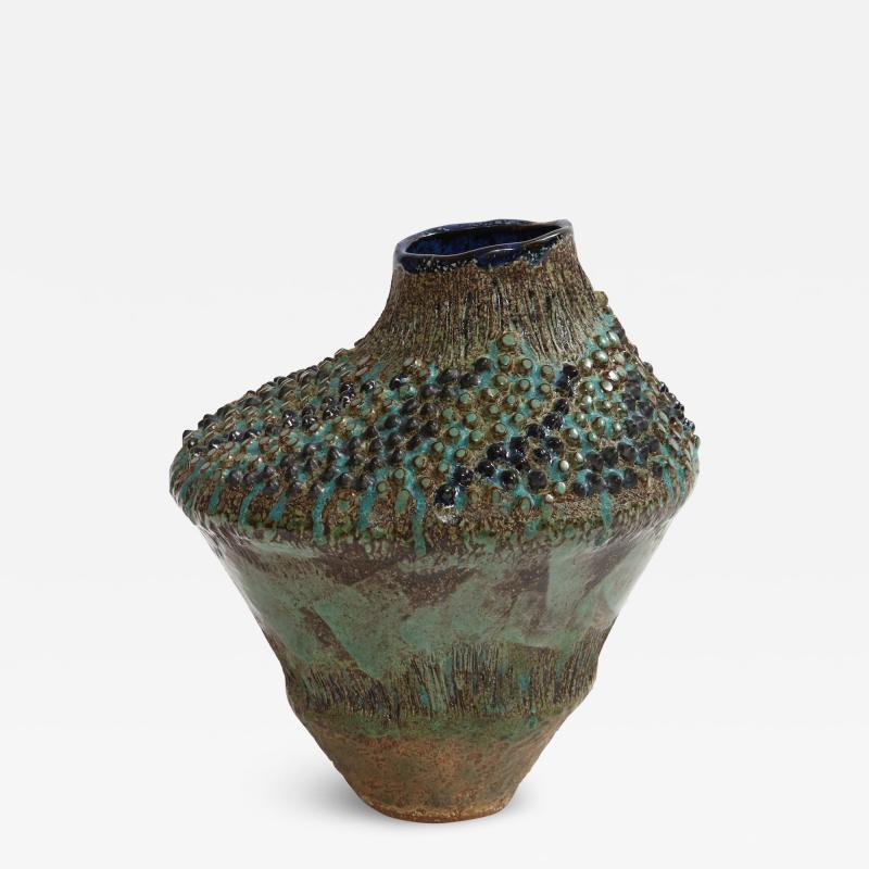 Dena Zemsky Asymmetrical Vase 1 by Dena Zemsky