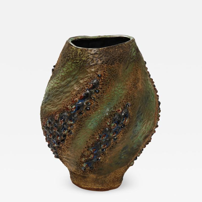 Dena Zemsky Hand Built Ceramic Vase by Dena Zemsky