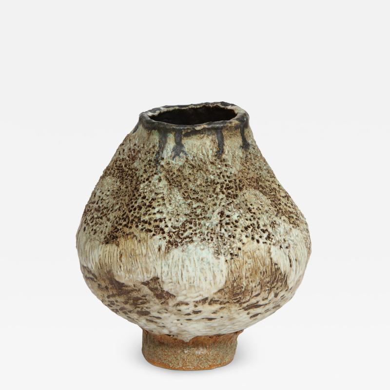 Dena Zemsky Studio Made Footed Vase by Dena Zemsky