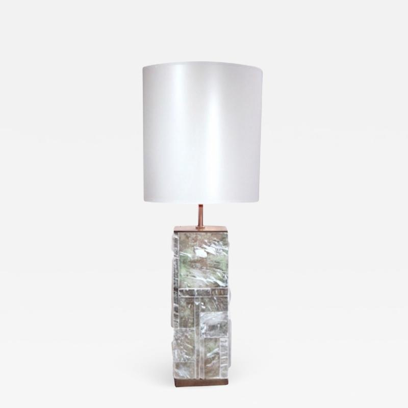 Designer Table Lamp Bronze and Gypsum