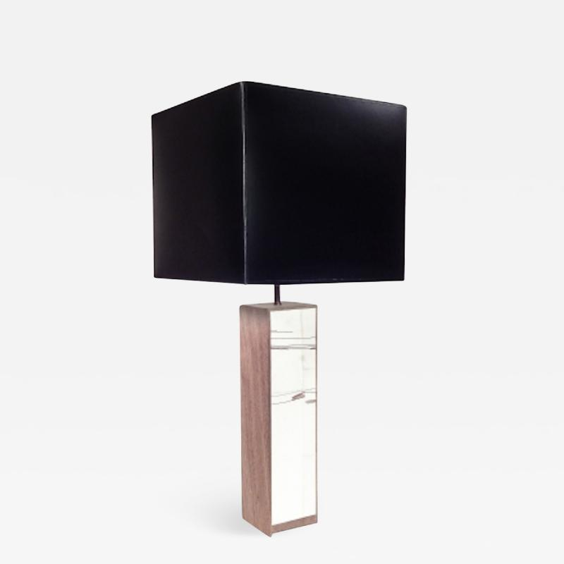 Designer Table Lamp Wood and Parchment