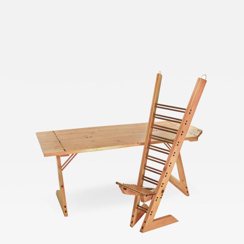 Destruction desk chair ca 1992