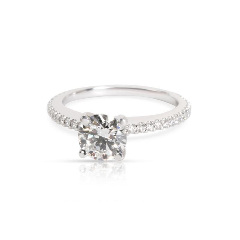 Diamond Diamond Engagement Ring in F VS1 1 31 CTW