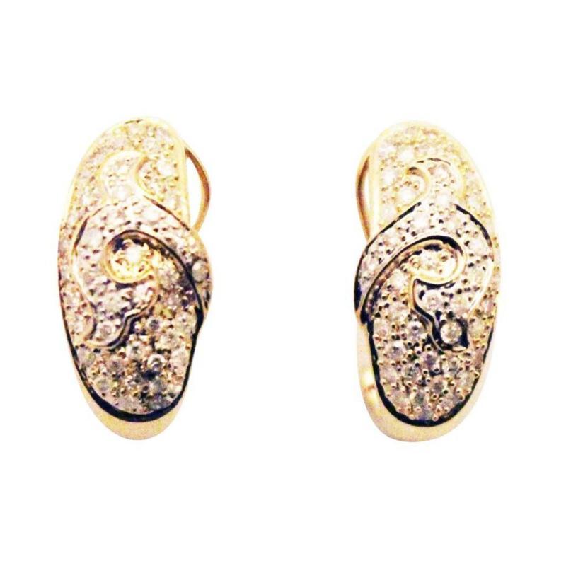 Diamond Earrings 14KT Yellow Gold Earrings