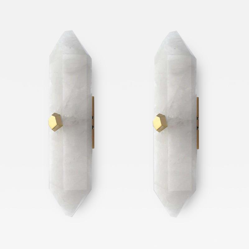 Diamond Form Rock Crystal Sconces by Phoenix