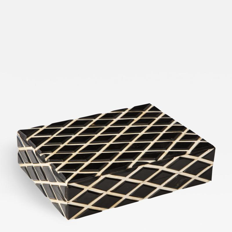 Diamond Pattern Horn Bone Box