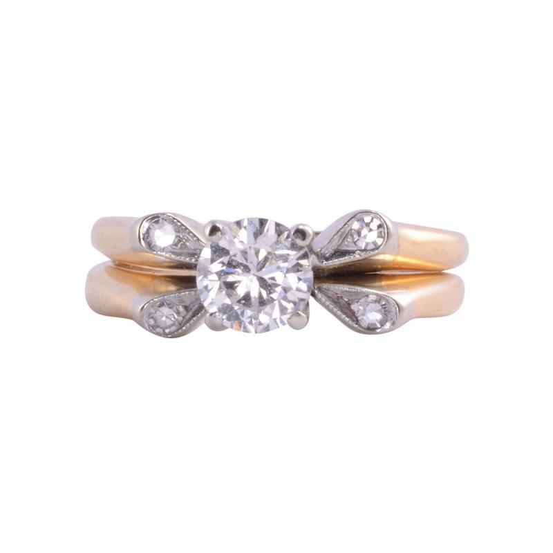 Diamond Platinum 14K Wedding Set
