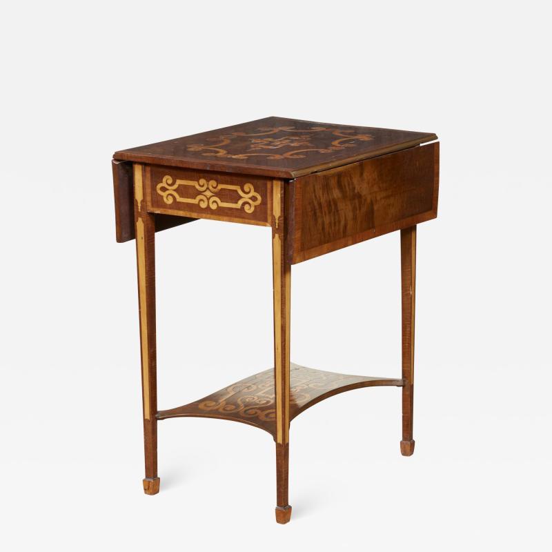 Diminutive Inlaid Harewood Pembroke Table