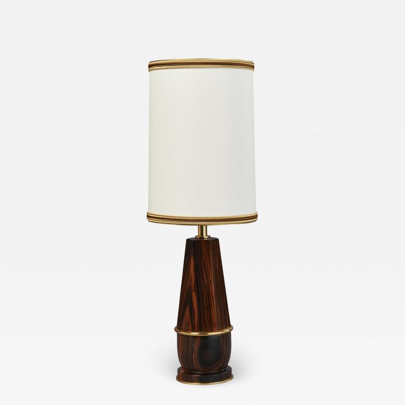 Diminutive Macassar Ebony Table Lamp France 1930s