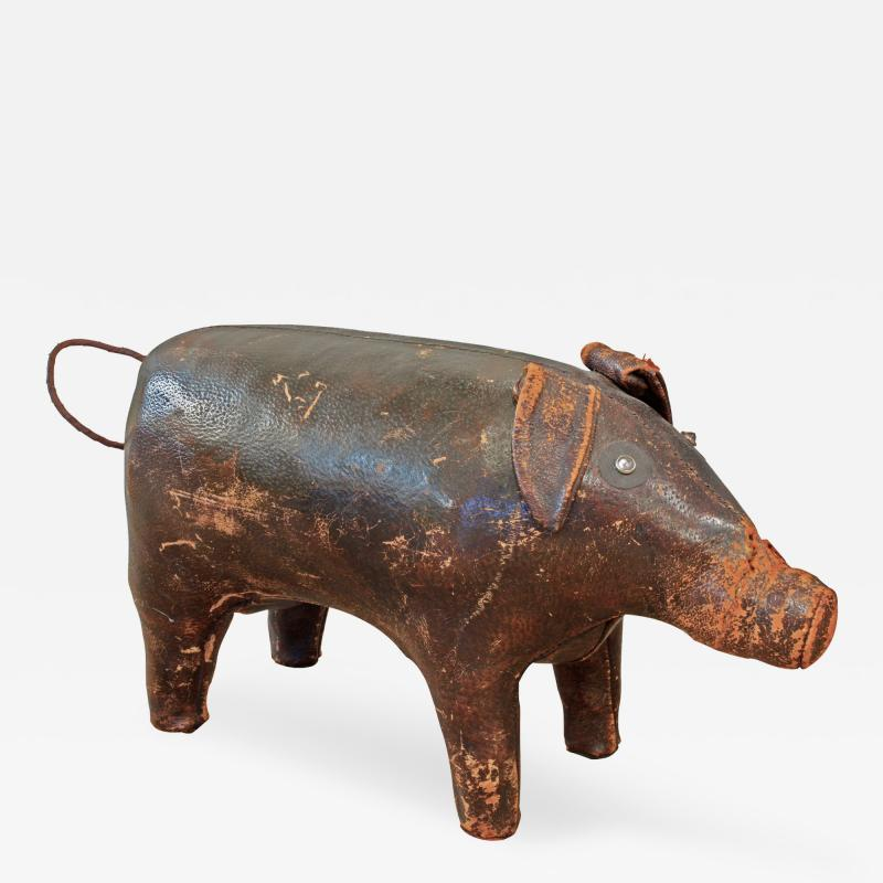 Dimitri Omersa Hand Stitched Leather A F Pig 1960s