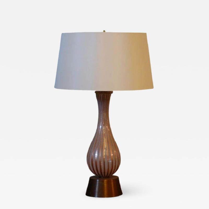 Dino Martens Tall Murano Glass Table Lamp by Dino Martens for Aureliano Toso
