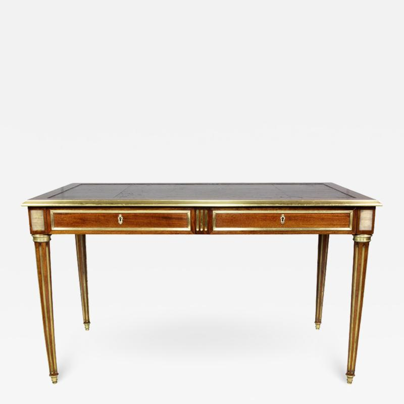 Directoire Style Mahogany and Brass Inlaid Writing Table