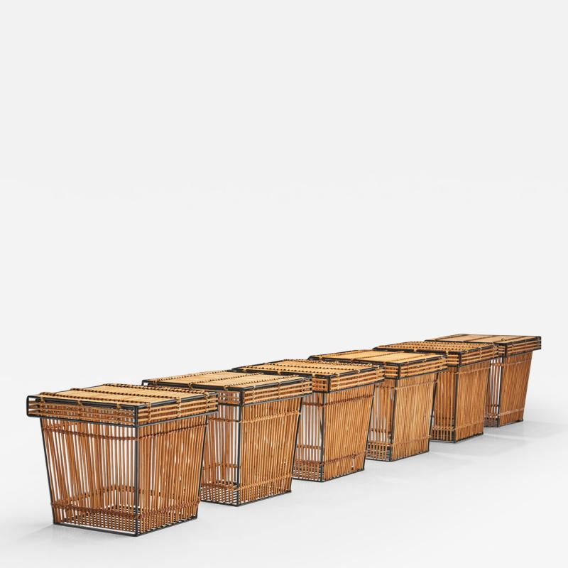 Dirk van Sliedregt Six Storage Baskets Attributed to Dirk Van Sliedregt for Roh Netherlands 1960s