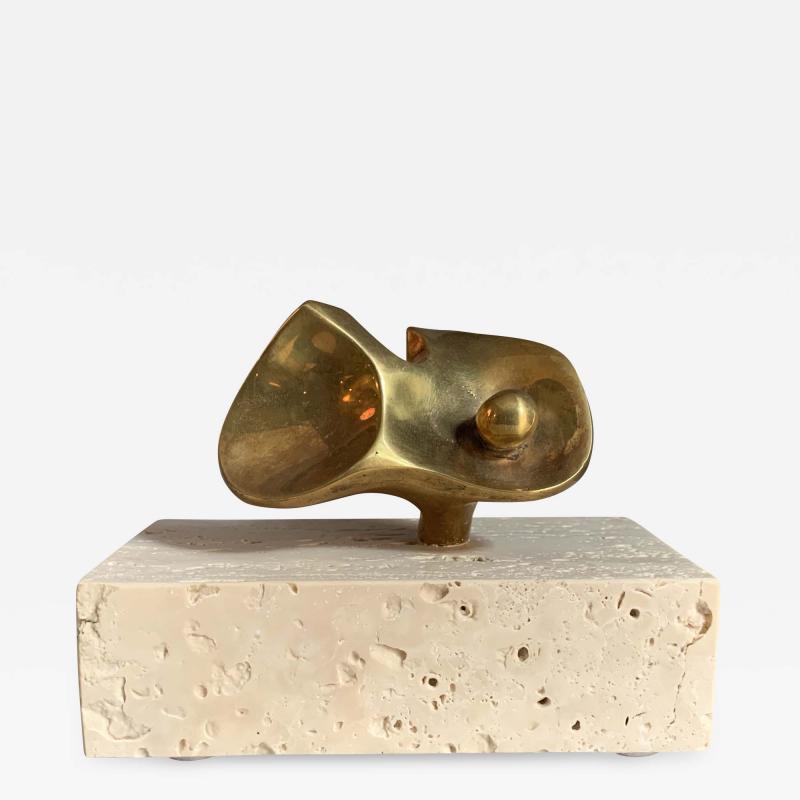 Domenico Calabrone Flor Da Amazonia Bronze Miniature By Domenico Calabrone Brazil 1960s