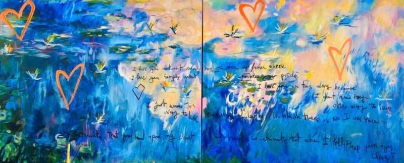 Domingo Zapata Original Street Art Painting by Domingo Zapata Your Eyes Close