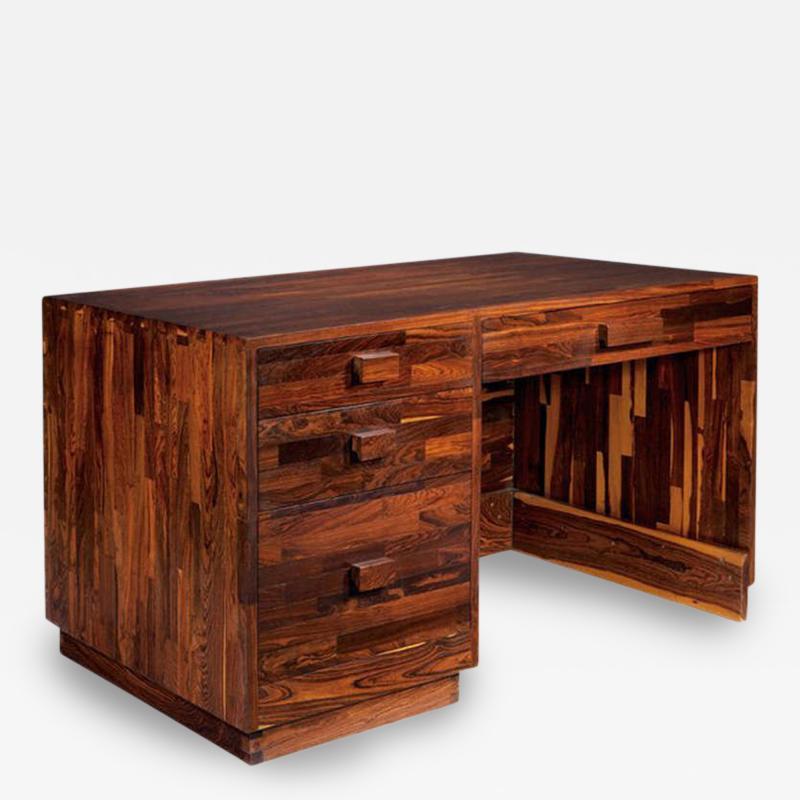Don Shoemaker Rare Cocobolo Wood Desk Don Shoemaker