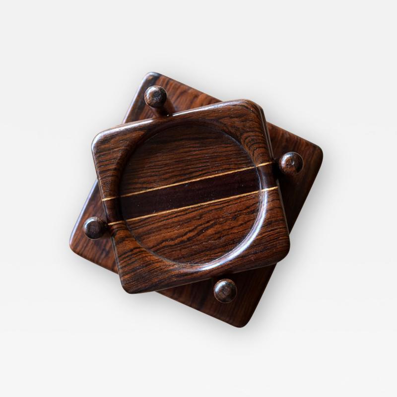 Don Shoemaker Tropical Wood Set of 6 Coasters