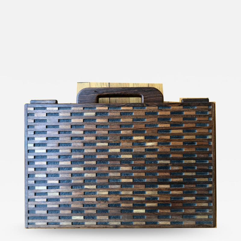 Don Shoemaker Wooden Briefcase