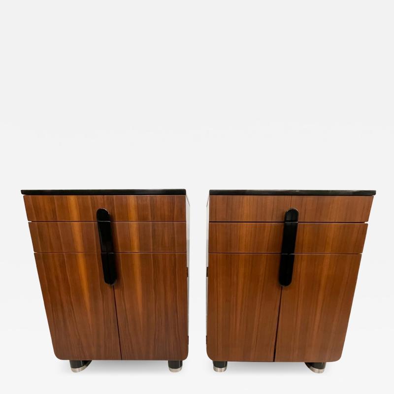 Donald Deskey New Yorker Donald Deskey Industrial Art Deco Satinwood Gloss Cabinets 1930s USA
