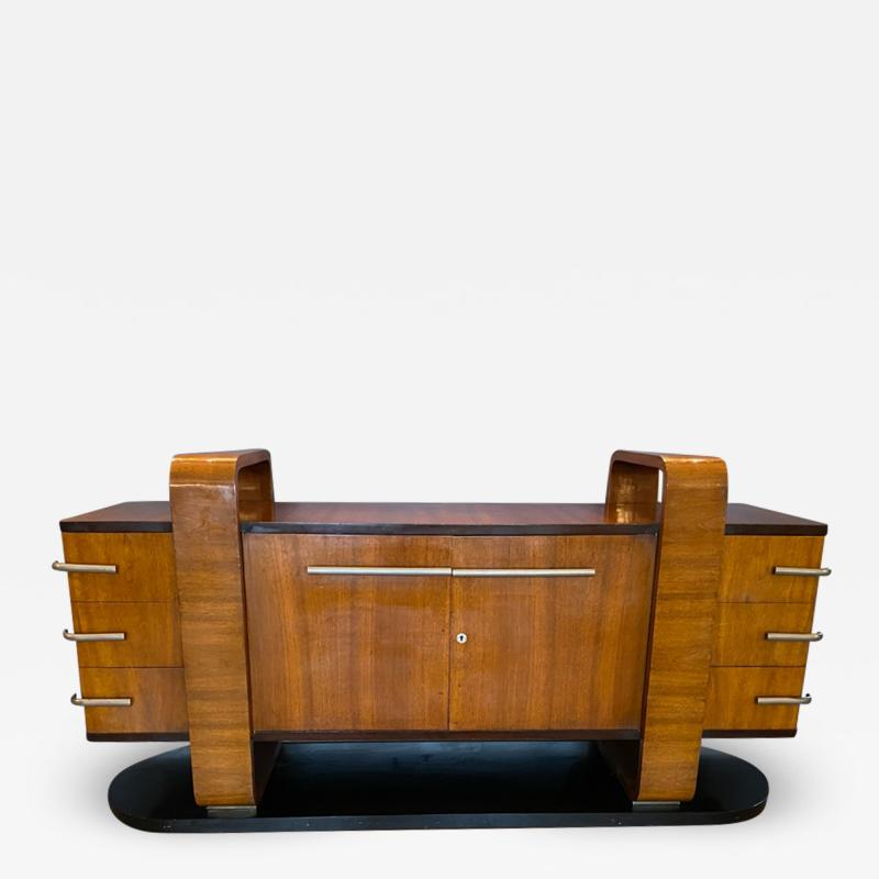 Donald Deskey RARE EXCEPTIONAL MODERNIST ART DECO SIDEBOARD IN THE MANNER OF DONALD DESKEY