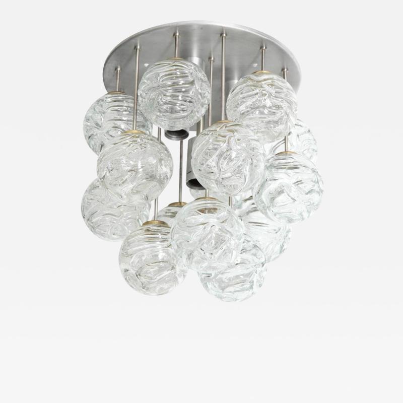 Doria Leuchten Glass Lollipop Flush Mount by Doria