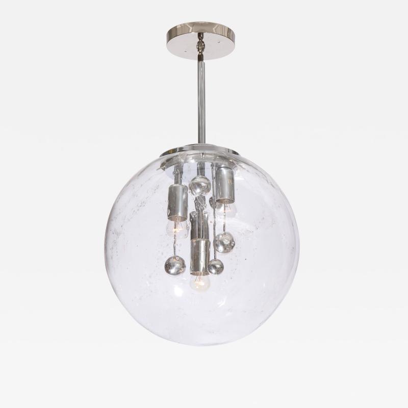 Doria Leuchten Large Murano Glass Globe Sputnik Pendant