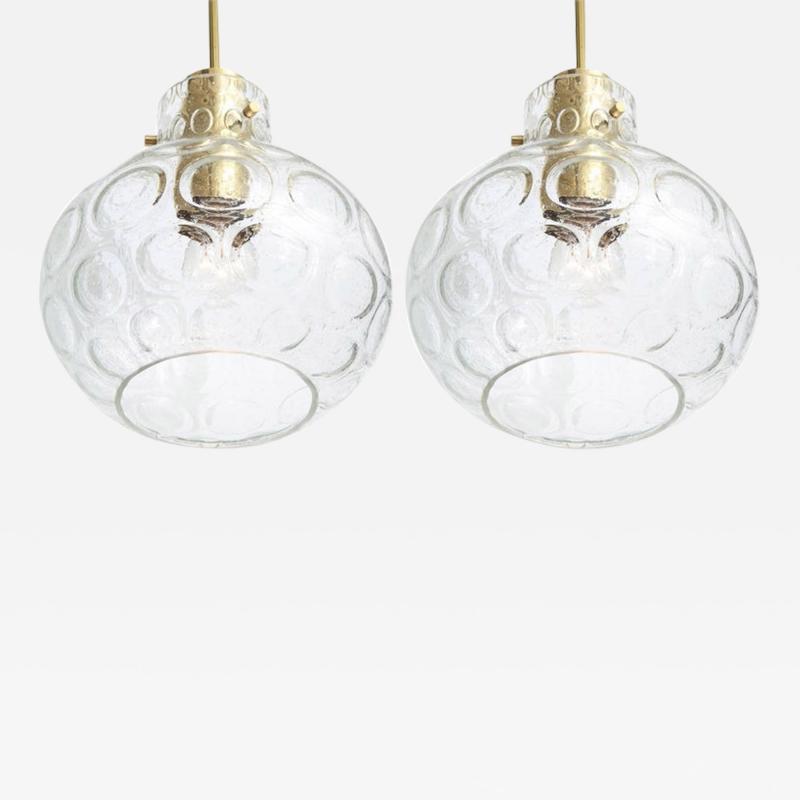 Doria Leuchten Pair of Pendant lights by Doria 2 Pairs Available