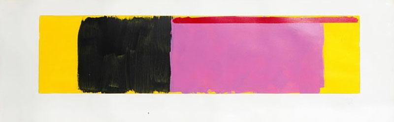 Doug Ohlson Drawing 19 1985 Minimalist Oil on Paper by Doug Ohlson 1936 2010