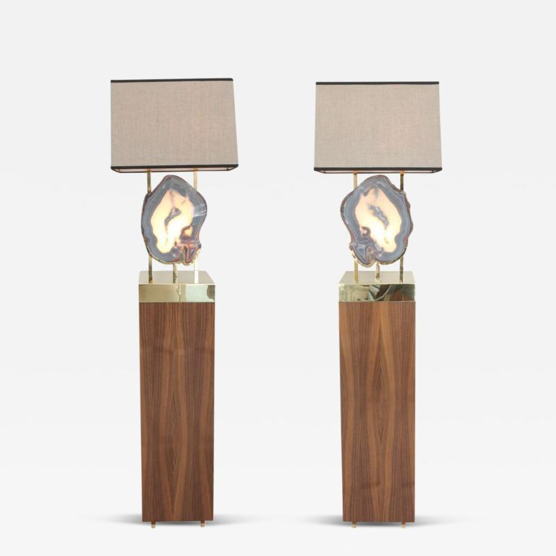 Dragonette Limited Pair of Limited Edition Pedra Floor Lamps Dragonette Private Label