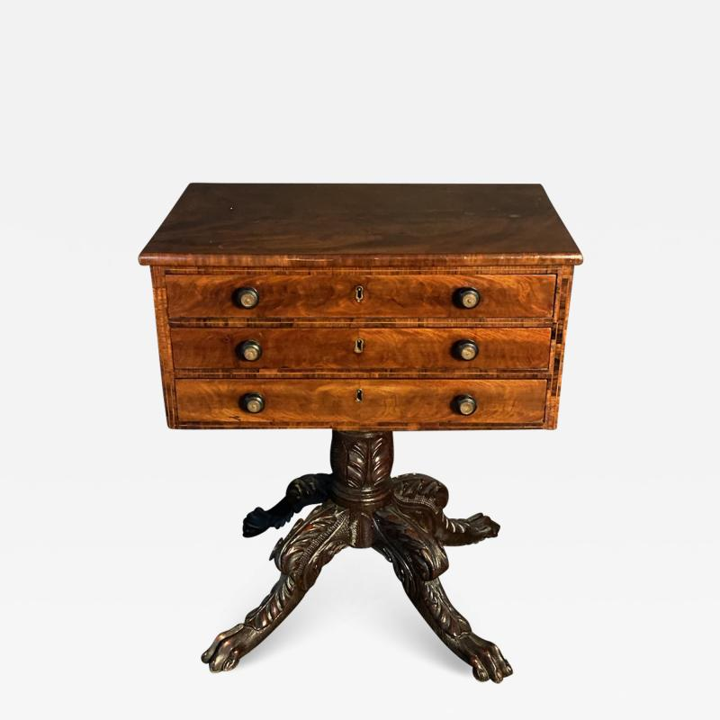 Duncan Phyfe An American Mahogany Empire Side Table Small Desk attributed to Duncan Phyfe