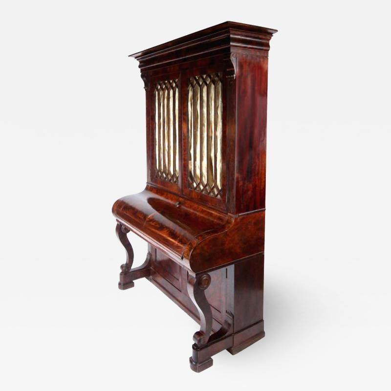 Duncan Phyfe Early 19th Century Duncan Phyfe Grecian Plain Style Mahogany Secretary Bookcase