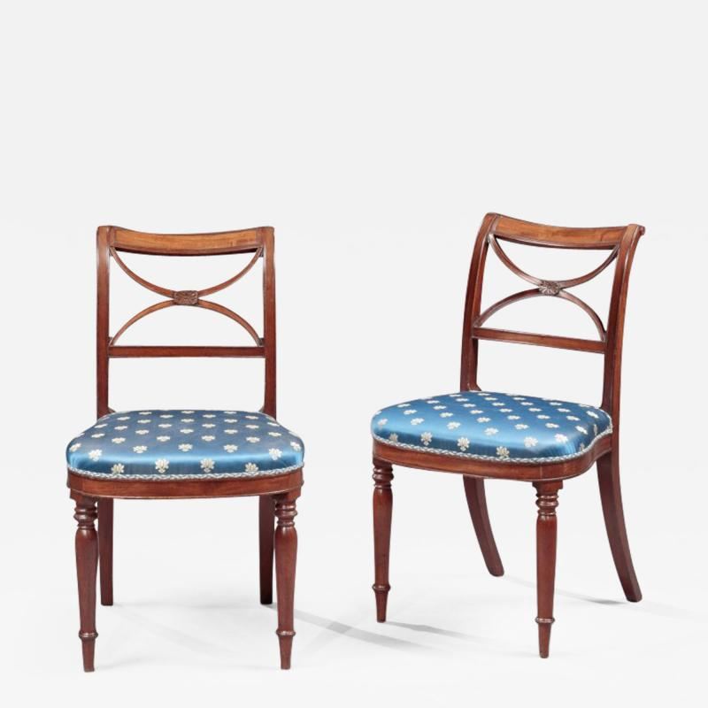 Duncan Phyfe Pair of Federal Side Chairs