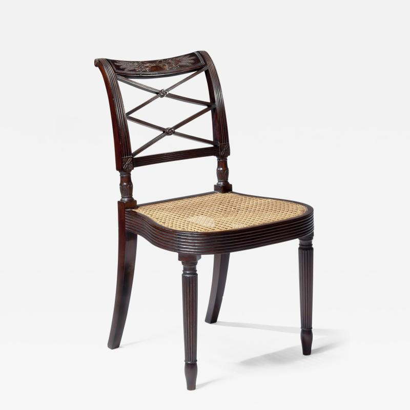 Duncan Phyfe Sheraton Carved Mahogany Side Chair