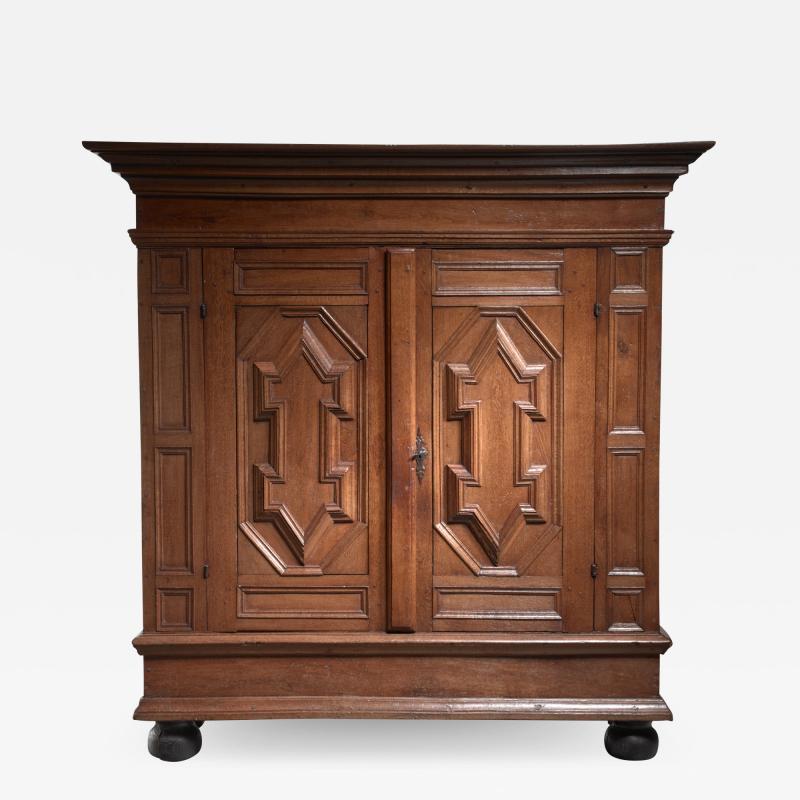 Dutch Renaissance oak cabinet 17th Century