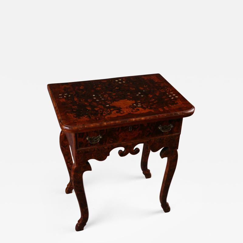 Dutch late Baroque floral Marquetry side Table Netherlands ca 1710
