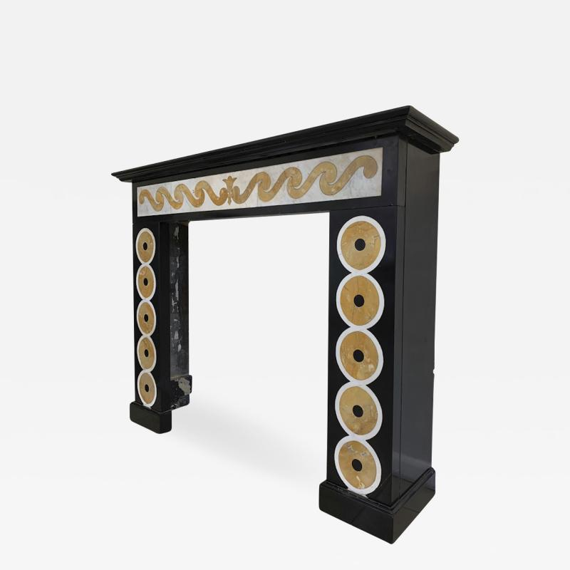 EMILIO TERRY Emilio Terry attributed superb neo classic marquetery fireplace mantel